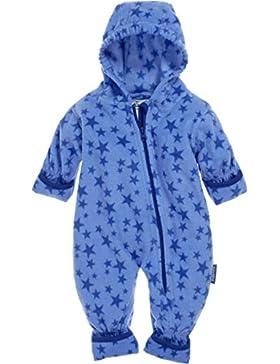 Playshoes Unisex Baby Schneeanzug Fleece-Overall Sterne