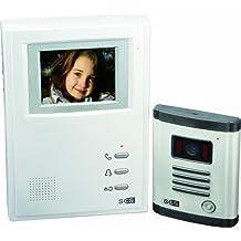 SCS SEN4139309 - Videoportero (10 cm, 4 canales, pantalla en color, con visión nocturna), color blanco