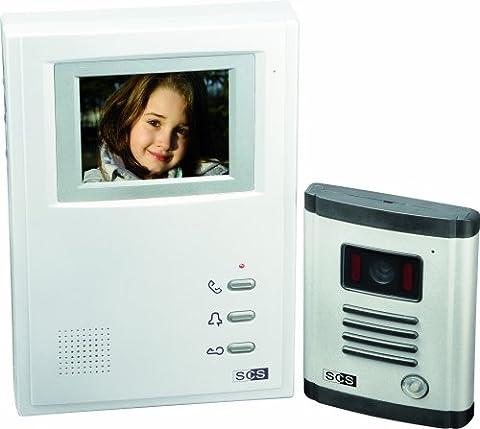 Interphone Sofia - SCS SEN4139309 Kit portier vidéo 4 fils