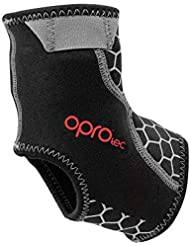 Opro Ankle Support with Gripper, Unisex Adulto, Black, Small