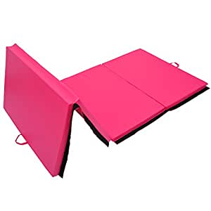 tapis de gymnastique pliable natte de gym matelas fitness 305x122x5cm rose 63 sports. Black Bedroom Furniture Sets. Home Design Ideas