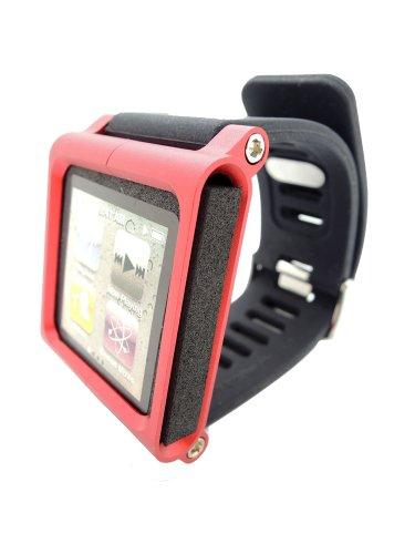 Fiona Multi-Touch Aluminium-Armband Tasche für Apple iPod nano 6. Generation 8GB 16GB (OEM) (Rot) (Nano Ipod-uhr-band)