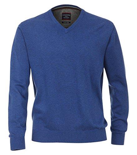 Casa Moda - Herren Pullover mit V-Ausschnitt in verschiedenen Farben (004130) Blau (128)