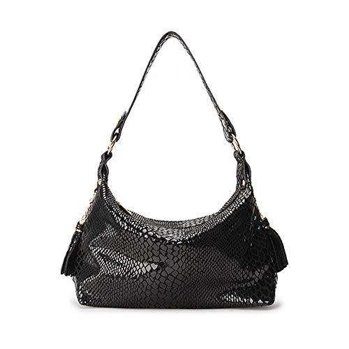 Kleine Hobo Black Handtaschen (BAG Umhängetasche Frauen Kleine Handtaschen Mode Hobo Schulter Crossbody Taschen Weibliche Handtasche Clutch,Black)