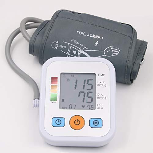 ELEAA Häusliches Gesundheitswesen Blutdruckmessgerät, Oberarm-Blutdruckmessgerät Blutdruckmessgerät Tonometer zur Messung der Tensiometrie,withvoice