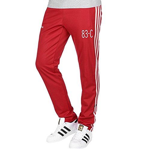 adidas 83-C Hose Sporthose Trainingshose Pant TP Freizeithose Herren rot (S) -