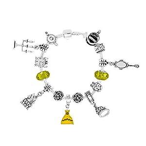 Belle Disney-Prinzessinnen inspirierten Charm-Armbänder Bettelarmbander für Mädchen