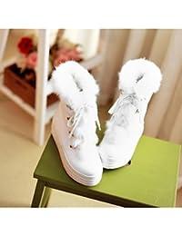 GLL xuezi Damen Stiefel Komfort PU Winter Normal Weiß Beige Rosa Flach d55b8d33a2