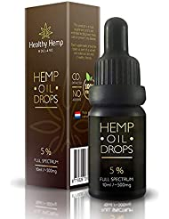 5% Hemp Oil Drops, 500mg Organic Full Spectrum Co2 Extract, Great For Pain, Anxiety & Stress Relief [ 10ml ] Best From The Netherlands