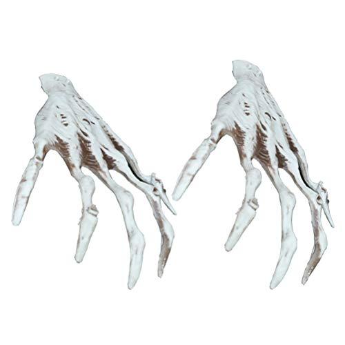Amosfun Ghost Hands Realistische Monster Hand Requisiten Halloween Party Dekoration Ohne Batterie 1 Paar