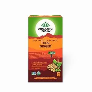 Organic India Tulsi Ginger Tea - 25 Tea Bags