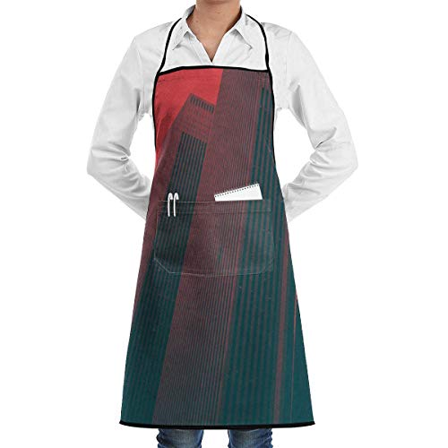 apron sky Bib Schürze with 2 Pockets Tall Building Extra Long Ties Kitchen Schürzes for Women and Men, Resistant to Droplets custom printed Schürzes Tall Mens Tie