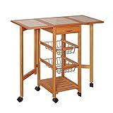 FuweiEncore Cocina de Alta Temperatura Superficie de Azulejos Hornos de microondas Admisión Estantería Plegable Trolley Mesa pequeña (Color: # 1) (Color : #1, tamaño : -)