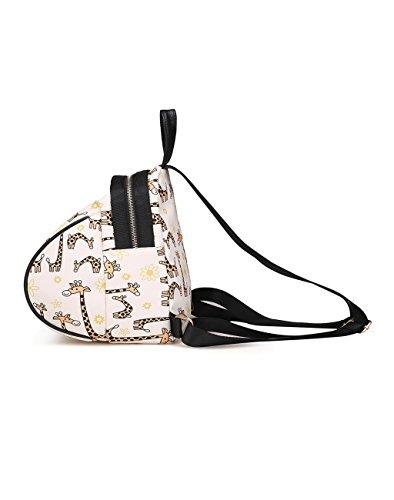 HUAYUN , Damen Rucksackhandtasche reh / hirsch
