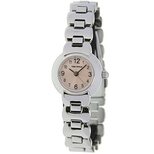 Time Force Tf3085b11m Reloj Analogico Para Mujer Caja De Acero Inoxidable Esfera Color Marron