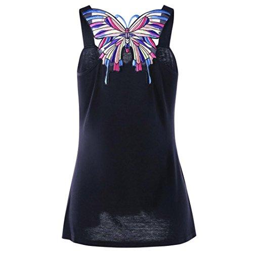 MRULIC Damen T-Shirt Armelloses Top Frauen Verstellbare Schultergurte Runden Hals Leibchen Crop Top (EU-38/CN-S, Y-Schwarz)