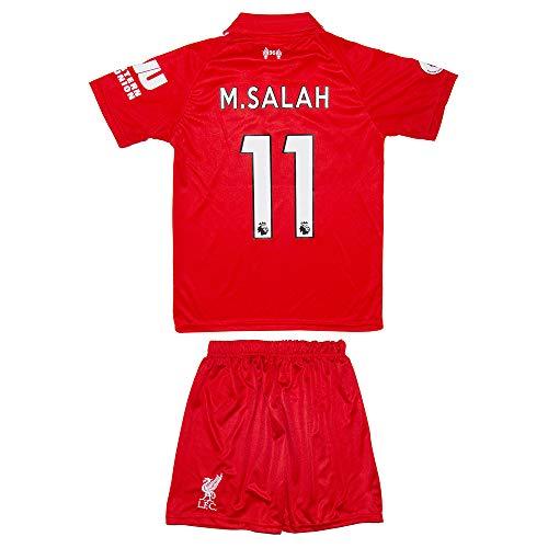 Liverpool M.Salah 2018 Heim/Auswärts Trikot und Shorts Kinder und Jugend Größe (176-13-14 Jahre, Heim) -