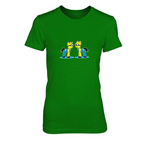 My Little Bananas - Damen T-Shirt, Größe: M, Farbe: grün (Despicable Me Kostüm Frauen)