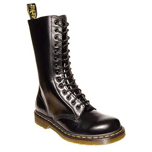 Dr. Martens 14-eye Leather Boots (B1914Z) Black (Größe 42) (14 Leder Eye)