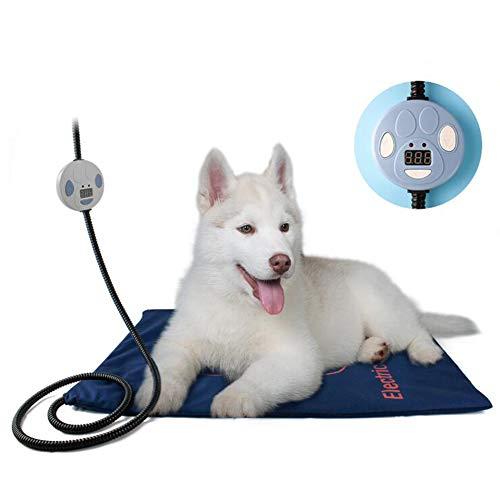 LIGHTOP Haustier Heizkissen Hund Heizkissen Anti-Bite-Schlauchwickel Kabel Haustier Heizmatte Temperatureinstellung, Heizkissen, Die Auch Von Menschen Benutzt Werden KöNnen Multifunktional