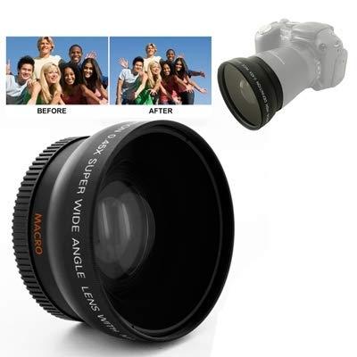 My only friend Moda Lente Gran Angular de 0.45X 52 mm Duradero Conveniente con Macro para Nikon D40 / D60 / D70s / D3000 / D3100 / D5000 Bonita