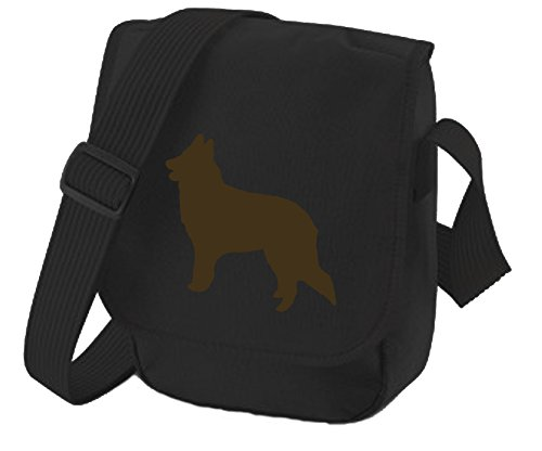 Bag Pixie ,  Unisex-Erwachsene Umhängetaschen Brown Dog Black Bag
