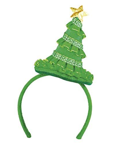 Boland- Tiara Cerchietto Albero di Natale Cutie Pine per Adulti, Verde, Taglia Unica, 13429