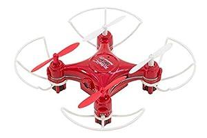 XciteRC 15007800-Rocket 55x XS 3D CAM de cámara de 4Canales RTF cuadricóptero Rojo V2de 3Speed con Barra Protectora
