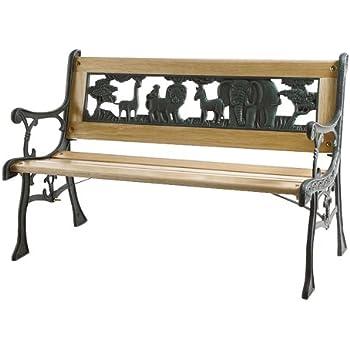unbekannt gartenbank bank gusseisen holz 122x56x74cm k che haushalt. Black Bedroom Furniture Sets. Home Design Ideas