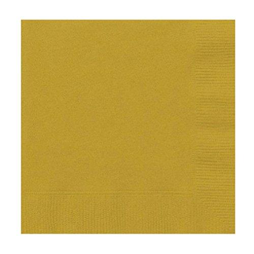 ervietten Plain Einweg Feste Farben Geburtstag Party Geschirr Catering Serviette 33 * 33 cm Multicolor Optional (Gold) ()