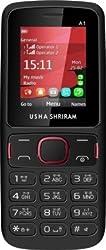 USHA SHRIRAM A1 Feature Phone (Dual Sim, Black)