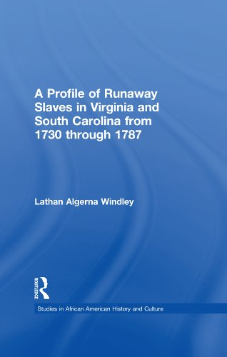 A Profile of Runaway Slaves in Virginia and South Carolina from 1730 through 1787 (Studies in African American History and Culture) por Lathan A. Windley