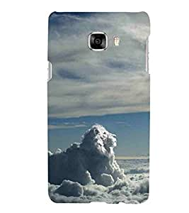 For Samsung Galaxy C7 SM-C7000 dangerous lion, cluod lion, cloud Designer Printed High Quality Smooth Matte Protective Mobile Case Back Pouch Cover by APEX