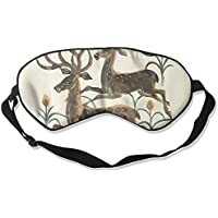 Sleep Eye Mask Deer Flowers Lightweight Soft Blindfold Adjustable Head Strap Eyeshade Travel Eyepatch E17 preisvergleich bei billige-tabletten.eu