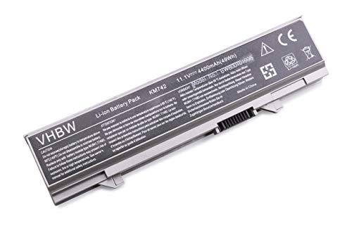 vhbw Batterie Compatible avec Dell Latitude E5400, E5410, E5500, E5510 Laptop (4400mAh, 11.1V, Li-ION, Gris argenté)