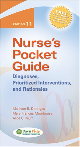Nurse's Pocket Guide: Diagnoses, Prioritized Interventions, and Rationales (Nurse's Pocket Guide: Diagnoses, Interventions & Rationales)