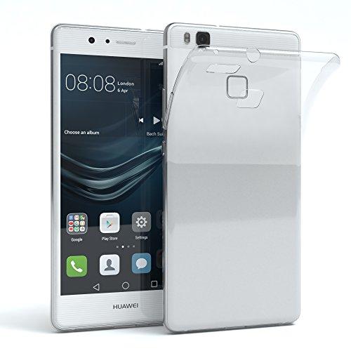 EAZY CASE Hülle für Huawei P9 Lite (2016) Schutzhülle Silikon, Ultra dünn, Slimcover, Handyhülle, Silikonhülle, Backcover, Durchsichtig, Klar, Transparent