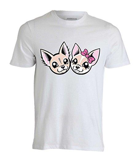 T-shirt maglietta maglia me contro te cagnolini 100% poliestere lavabile in lavatrice (6/8 anni)