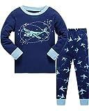 Tkiames Jungen Schlafanzug Gr. 7-8 Jahre, blau2