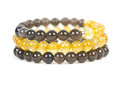 Oro quarzo rutilato filledfilleden bracciale, bracciale pietra preziosa, braccialetto, gioielli fatti a mano, gioielli 8mm