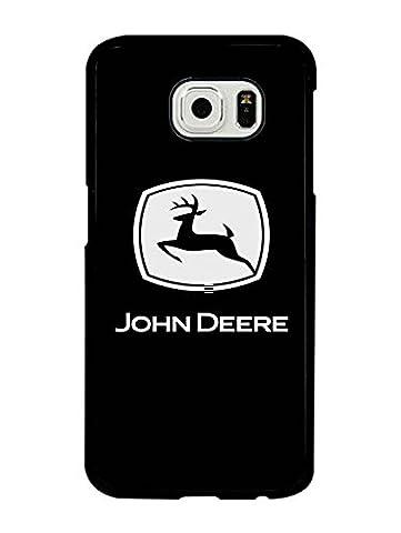 John Deere Samsung Galaxy S6 Hülle Case - HD Pattern of Brand Logo Rück Hülle Print with John Deere Logo Samsung Galaxy S6 Handy Zubehör