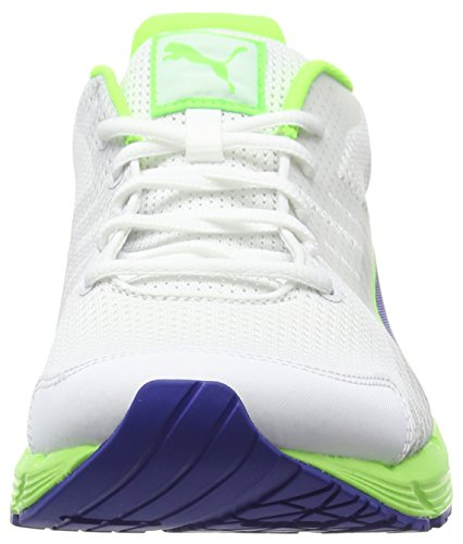 Puma Sequence v2, Chaussures de Running Compétition Unisexe Adulte Multicolore (White/Surf The Web/Green Gecko)