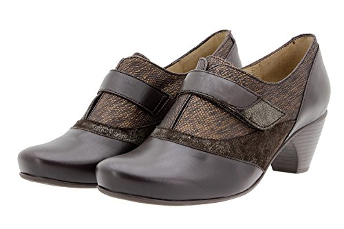 PieSanto Scarpe Donna Comfort Pelle 9406 Casual Comfort Larghezza Speciale Caoba