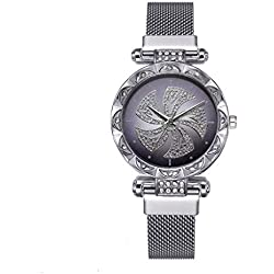 Webla - Design de Mode Rétro de Haute Qualité Montre À Quartz Pour Les Femmes, Bracelet En Maille (Argent) (Sl)