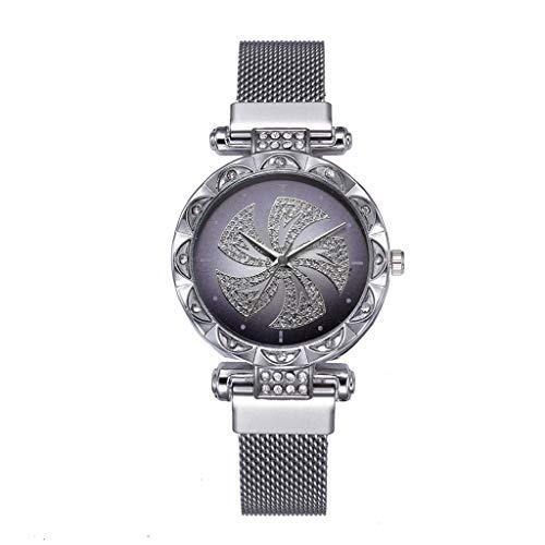 YEARNLY Damen Uhren High-End Qualität Retro Mode Design Damenuhr Quarzuhr Uhrenarmband Armbanduhr Geschäft Casual Schwarz, Rot, Silber, Gelb, Blau, Rosa, Lila