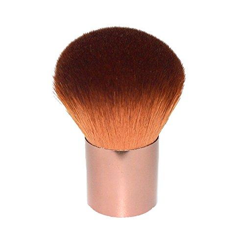 Gespout Pinceau de Maquillage Professionnel pour Visage Nylon Poignée en Aluminium Fond de Teint Poudre Blush (brown)