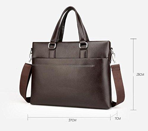 Männer Handtasche Bundle Schulter Messenger Business Aktenkoffer Echtes Leder Taschen Großes Captour Computer Taschen Black