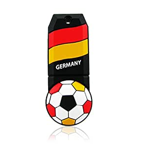 Prime No31300090016 Hi-Speed 2.0 USB-Sticks 16GB Cool Fußball Deutschland