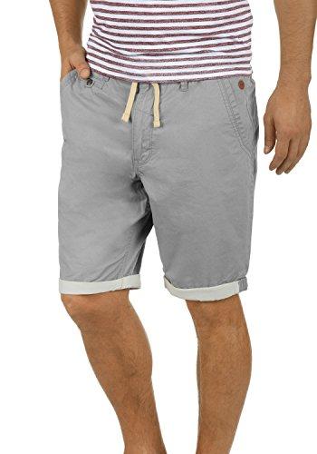 Grau Kariert Shorts (Blend Kankuro Herren Chino Shorts Bermuda Kurze Hose Mit Kordel Aus 100% Baumwolle Slim Fit, Größe:S, Farbe:Aluminium (70107))