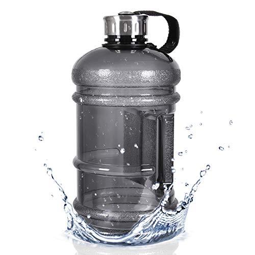 M MILLIONGADGETS Half Gallon Water Bottle Reusable Clear